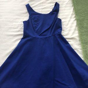 Royal blue A-line dress